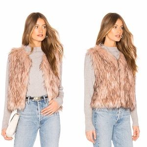 BB DAKOTA REVOLVE Barbarella Mauve Faux Fur Vest